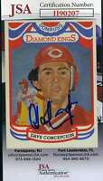 Dave Concepion JSA Coa Autograph 1984 Donruss Diamond Kings Hand Signed