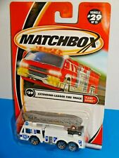 Matchbox 2001 Flame Eaters #29 Extending-Ladder Fire Truck White