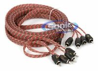 NEW! Stinger SI4417 17 ft 4-Channel 4000 Series RCA Audio Interconnect Cable