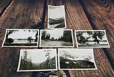 Lot of 6 Vintage Black and White Nature Snapshots Photos Hills Valley Mountain
