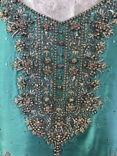Pakistani Wedding Embroidery Stitched Salwar Kameez 2 Pieces Silk Jamawar Pants