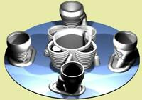 ACCUR8 1/72 & 1/70 Saturn IB Model Rocket 3D H-1 Engine Set with Motor Pass-thru