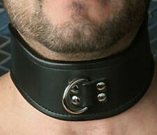 Stockroom Tall Curved Posture Collar, Padded, Lockable, D-ring for Leash, AUS St
