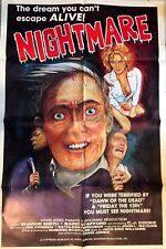 """NIGHTMARE"" ORIGINAL SLASHER MOVIE POSTER"
