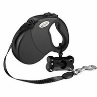 Retractable Dog Lead (5m)- Extendable Leash with Waste Bag Dispenser