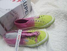 Superga Womens Shoes 2750 rare Cotu Shade pink/yellowish green NWB Originally$99