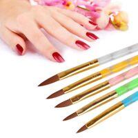 5Pcs Acrylic 3D Painting Drawing UV Gel DIY Brush Pen Tool Nail Art Brushes Set