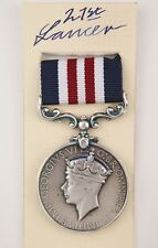 WW2 BRITISH ARMY MM MILITARY MEDAL GVI FOR BRAVERY IN THE FIELD GALLANTRY
