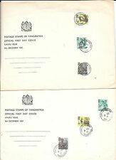 Tanganyika; Official First Day Cover Uhuru Issue Dec. 1961 ( 2 Covers )