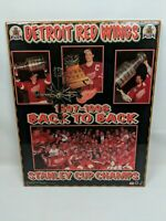 Vintage 1998 Starline Detroit Red Wings NHL Stanley Cup Champs Clock / Picture