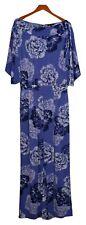 IMAN Global Chic Jumpsuits Sz M Bateau Neck Jersey Stretch Knit Purple 694118