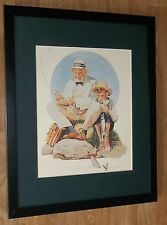 Norman Rockwell framed print - Fair catch - 20''x16'', vintage fishing print