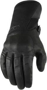 Icon Adult Raiden Motorcycle Gloves Black All Sizes