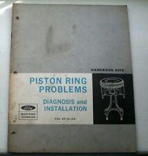 Ford Piston Ring Problems Diagnosis & Installation Handbook 6010 Vol.69 S3 L2A
