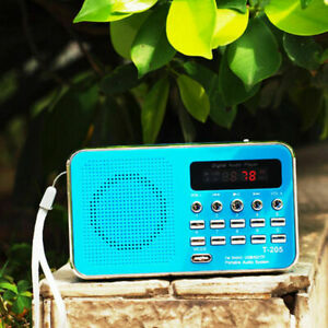 Mini FM Radio Digital Portable Stereo Speaker MP3 Audio Player USB Rechargeable