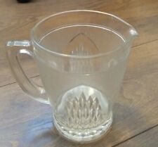 More details for vintage large heavy clear glass pitcher jug punch pimms lemonade water vgc