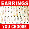 24 Pairs of Earrings On Cards - Wholesale Lot - Stud, Stone, Dangle - You Choose