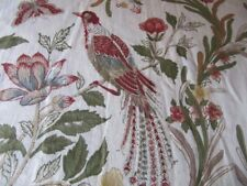 RARE POTTERY BARN TWIN DUVET COVER W/ EURO SHAM PEACOCK-BUTTERFLy-FLORAL