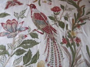 POTTERY BARN TWIN DUVET COVER W/ EURO SHAM PEACOCK-BUTTERFLIES-FLORAL RARE