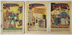 DC Comics - Superman #57, 137 & 189 - Coverless & Incomplete