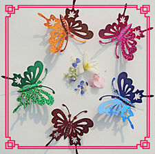 3D 5 pcs large flashing Butterflies  - perfect for  butterfly mobile and craft