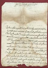 Manoscritto Richiesta Variazione Contratto Congregazione dei Baroni Roma 1719