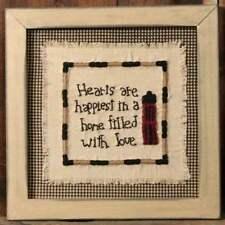 "FRAMED STITCHERY SALTBOX HOUSE INSPIRATIONAL INSPIRATIONAL WALL DECOR 11"" sq"