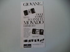 advertising Pubblicità 1967 OROLOGIO MOVADO ERMETO