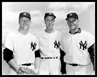 Mickey Mantle Joe Dimaggio Roger Maris Photo 11X14 - 1962 New York Yankees