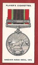 KHEDIVE'S SUDAN MEDAL 1910 Mahdist War c1920's original vintage card