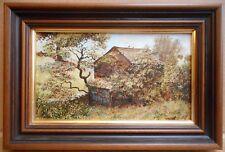 Sparrow Barn whinfell. aceite original por artista enumerados Stephen Darbishire RBA 1980
