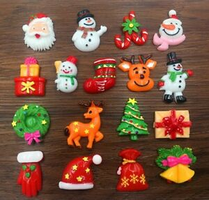 DIY 5/20pcs Mix Christmas Flatback Resin Cabochon Scrapbooking/Crafts
