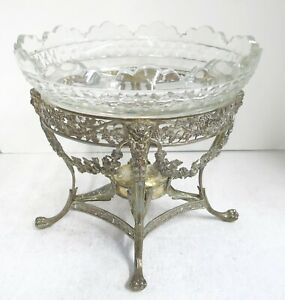 STUNNING Large Oval Georgian, Sterling Silver Centerpiece With  Armorial.
