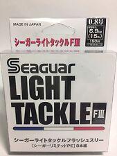 50996) Seaguar LIGHT TACKLE FLASH III 8 Braided PE Line #0.8(15lb/6.9kg) 150m