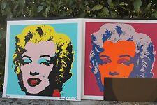 "2 x Andy Warhol : Serigrafia ""Marylin Monroe"", 250 esemplari, 1 firmata a mano."