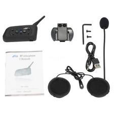 BT Bluetooth Casco interfono moto Interphone Headset 1200M 6 Rider Z4C4