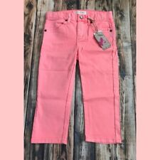 Girl's Mimi and Maggie Hot Coral Salt Water Wash Skinny Capri Pants Jeans Size 6