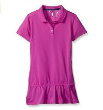 adidas Golf Girl's Climalite Advance Girls Pique Short Sleeve Polo Tag $55.