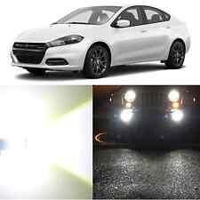Alla Lighting Fog Light H11 Super Bright White LED Bulbs for 2013~16 Dodge Dart