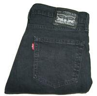 Mens Levi's 511 Slim Fit Black (0168) Stretch Denim Jeans W31 L32