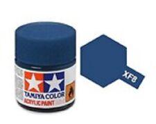 TAMIYA COLORI ACRILICI PER PLASTICA XF8 FLAT BLUE FOR PLASTIC