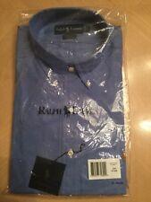 Ralph Lauren Mens Dress Shirt Blue 17 32/33 NWT
