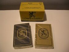 Lot Of 2 Gold & Navy Lowenbrau Beer Playing Cards Sealed in Original Box