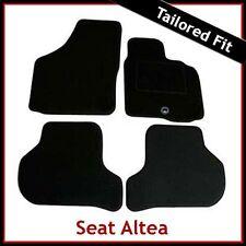 SEAT Altea 2004 en adelante fullytailored ajustada Alfombra Coche Alfombrillas Negro