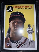 2018 Topps Throwback Thursday Ronald Acuna Jr. RC Card #256 Rookie SP🔥Braves🔥