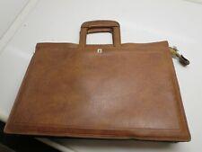 VINTAGE Mens AP Genuine Cowhide Leather Bag Zipper Travel Bag