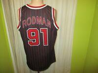 Chicago Bulls Original Champion Authentic NBA Trikot + Nr.91 Rodman Gr.XL