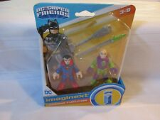 Imaginext DC Super Friends Fisher Price Superman Lex Luthor Luther meter spear