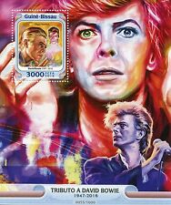 Guinea-Bissau 2016 MNH Tribute to David Bowie 1v S/S Ziggy Stardust Stamps