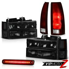 94-98 Chevy K1500 Red 3RD Brake Lamp Taillamps 8Pcs Headlight Combo Replacement